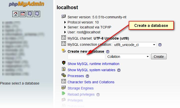 Creating-database-in -WAMP-server