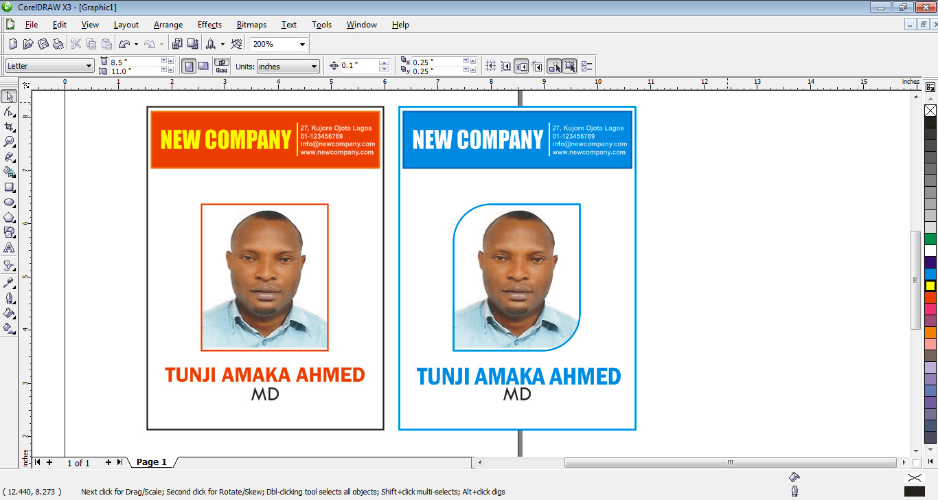 How to design id card in coreldraw free tutorials for beginners how to design id card in coreldraw reheart Images