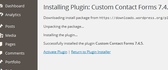 activating your plugin