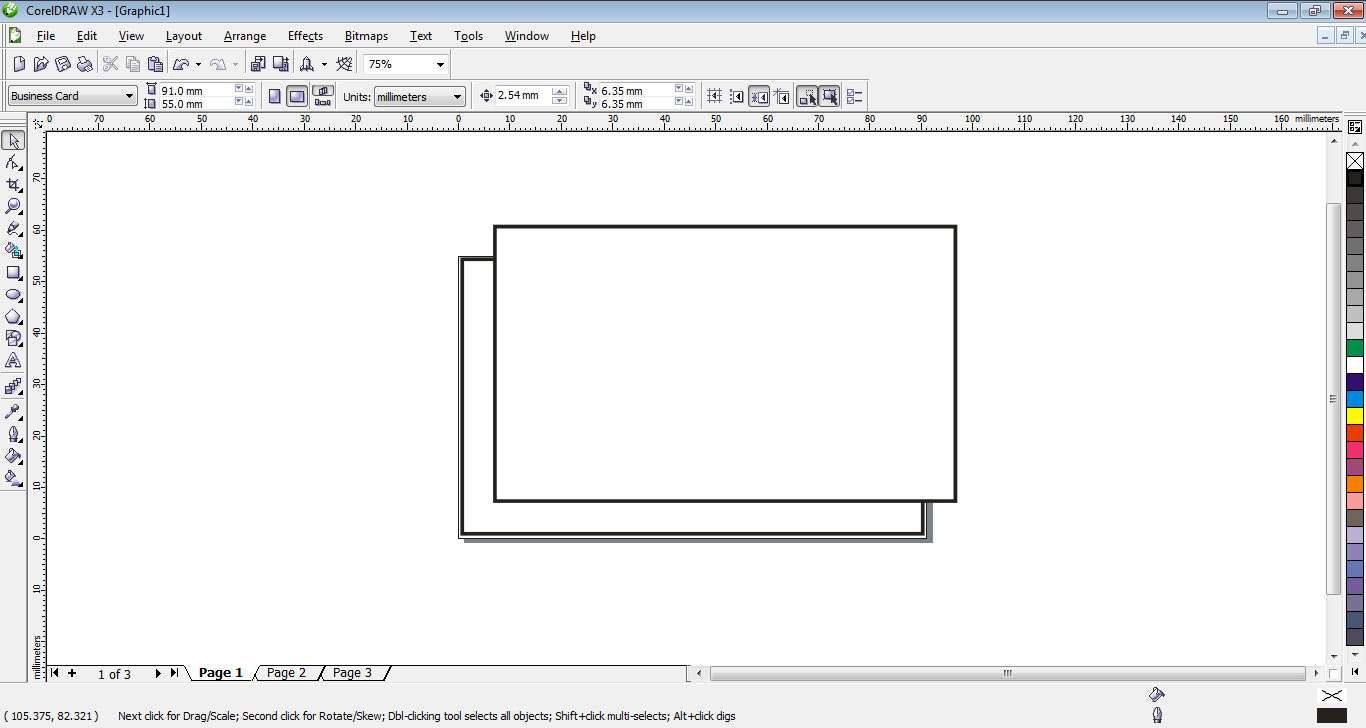 how to design simple business card in corel draw tutorial