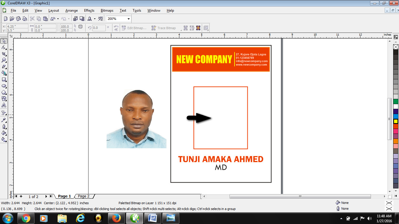 how to design id card in coreldraw