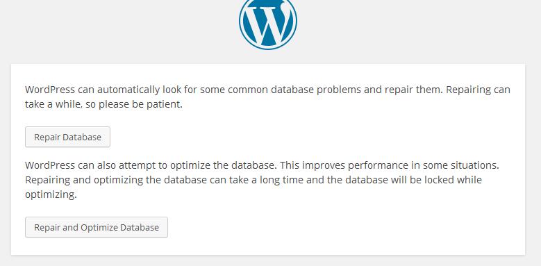 repairing your database