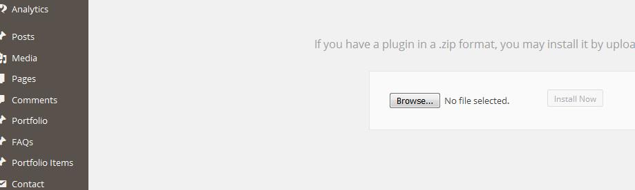 uploading plugins