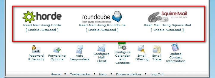 creating a webmail