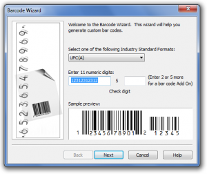 Steps on how to generate Bar code