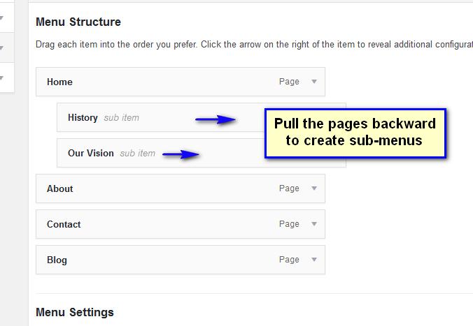 Creating drop down in WordPress