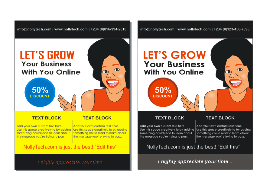 flyer design tutorial and template
