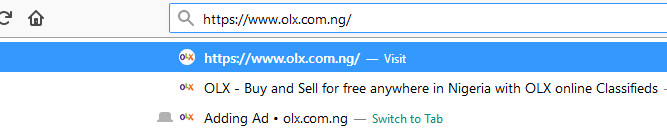 How to sell on OLX Nigeria step 1
