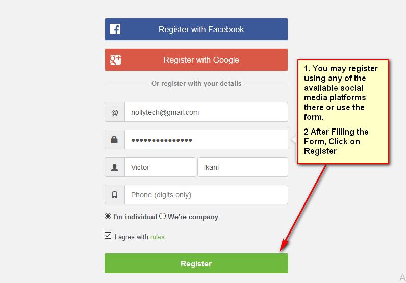fill the jiji ng registration form