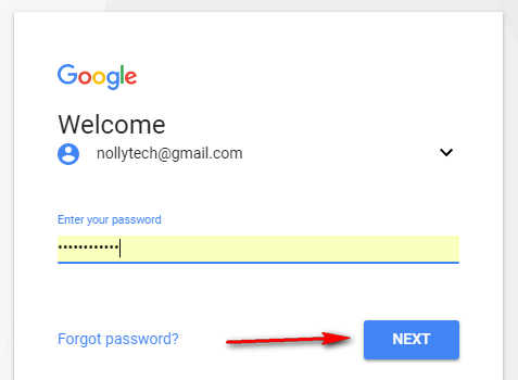Signing in to gmail account