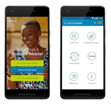 Ecobank mobile app interface