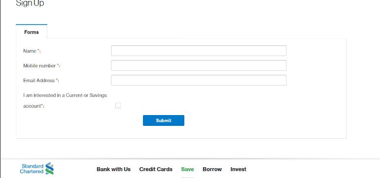 Standard Chartered Bank internet banking