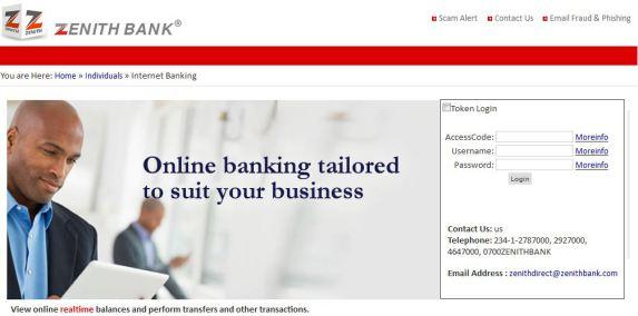 Zenith bank internet Banking