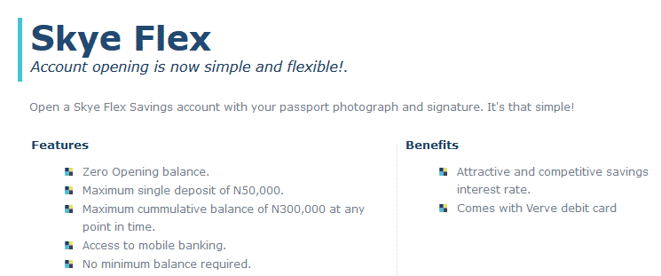 open a bank account online skye bank