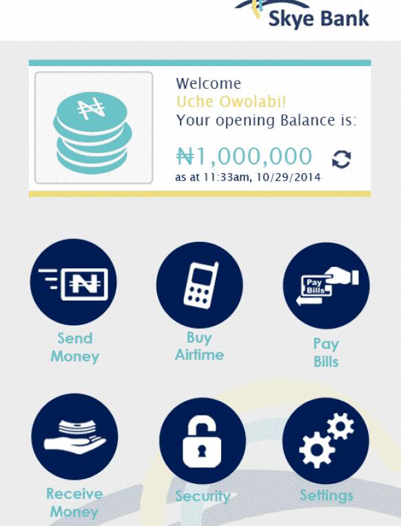 skye bank transfer code