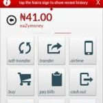 Zenith bank Mobile app page