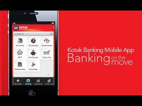 Kotak Mahindra online banking app