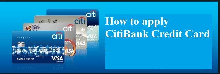 Citibank credit card application procedure.