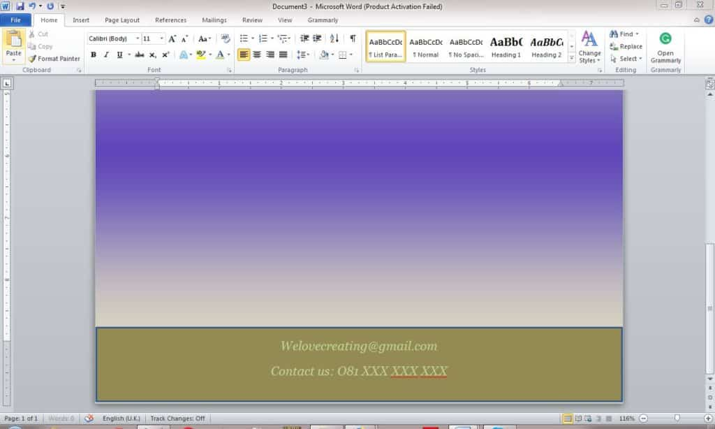 How to make a Flyer in Word
