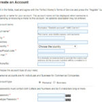 Perfect money registration form