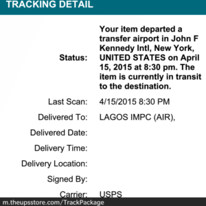 UPS Tracking Nigeria and how it works