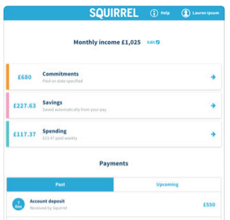 squirrel budgeting apps in uk