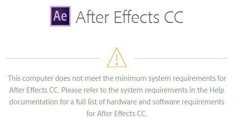 Adobe after effects requirements