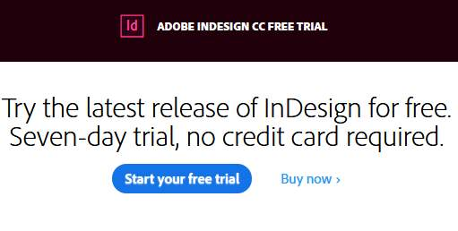 Indesign free trial version