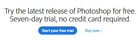 adobe photoshop free trial