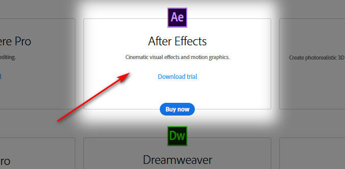 download after effects free trial