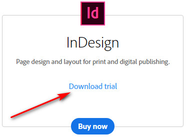 how to download Adobe InDesign free trial