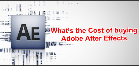the cost of adobe after effects
