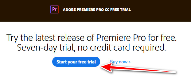 Adobe Premiere Pro free trial download