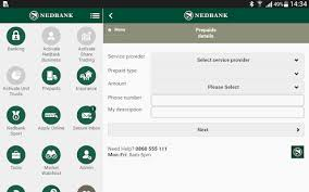 Nedbank money app dashboard