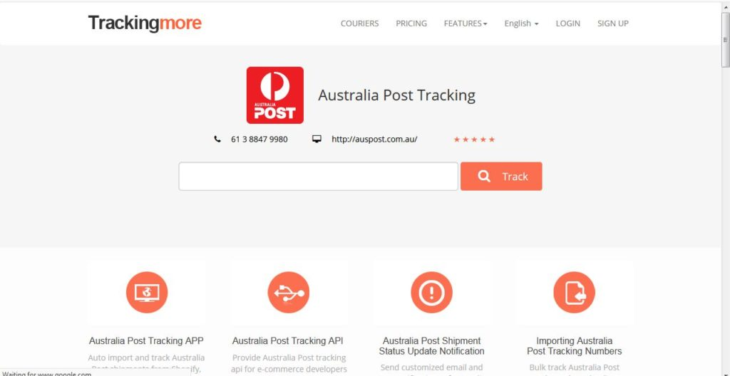 How to track an Australia Post