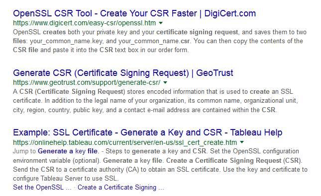 create a CSR file
