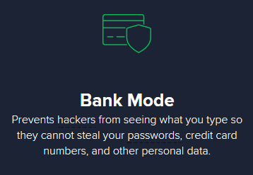 Avast bank mode