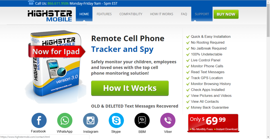 Highster Mobile WhatsApp spy utility tool