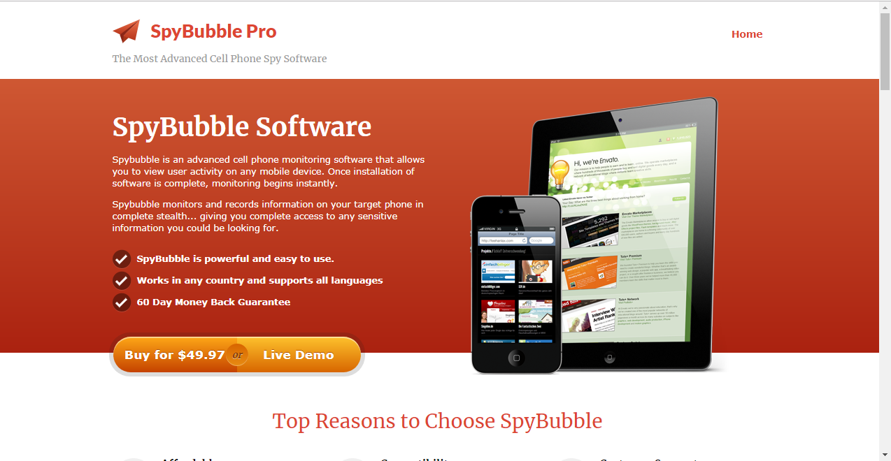 mobile spy or spy bubble 97 for windows