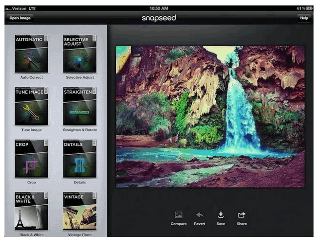 Snapseed User interface