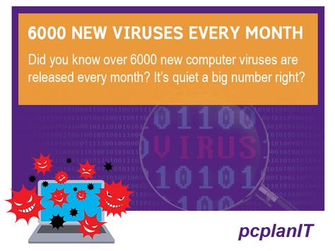 computer viruses are released every month
