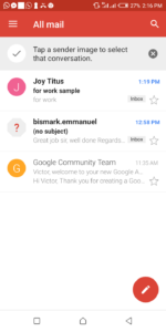 All mail on Android