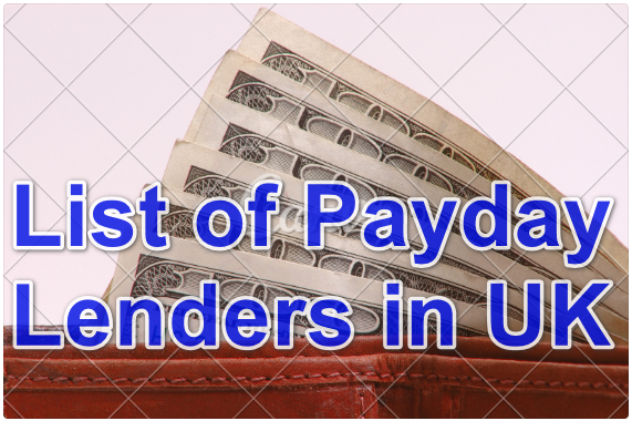 List of Payday lenders in UK