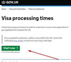 check UK visa status-Visa Processing times