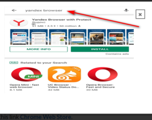 add extension to chrome -Yandex browser