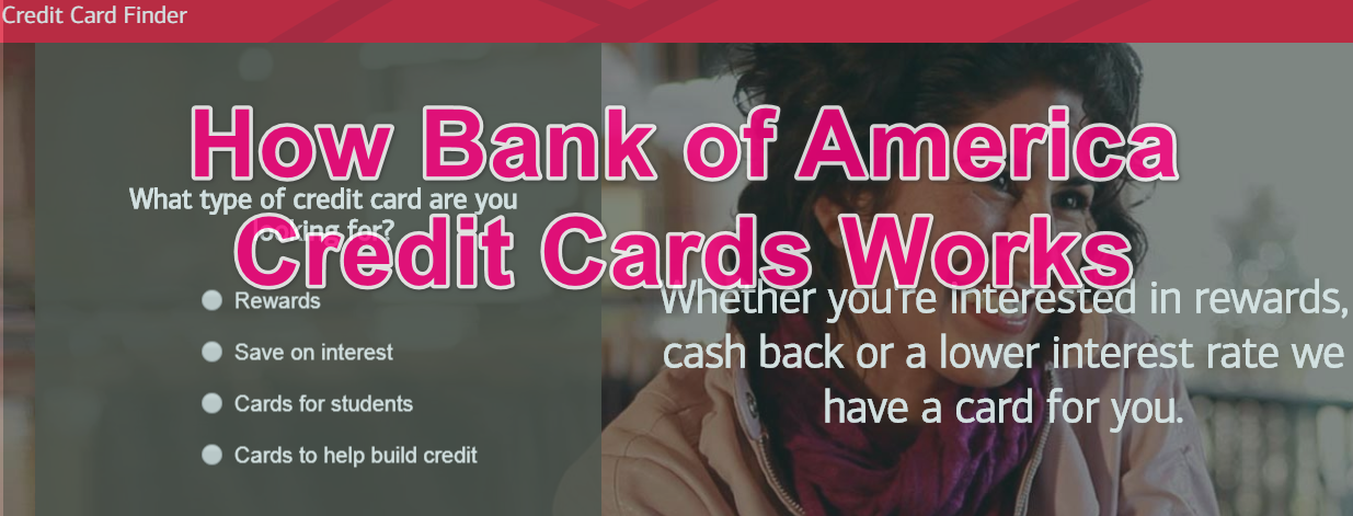 how Bank of America credit card works