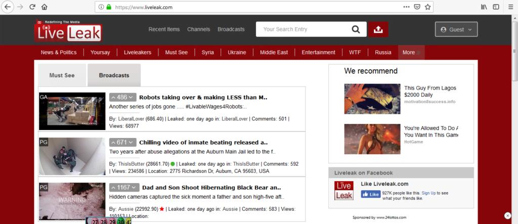 liveleak free video uploading sites