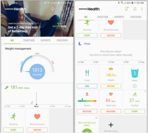 Samsung health app review