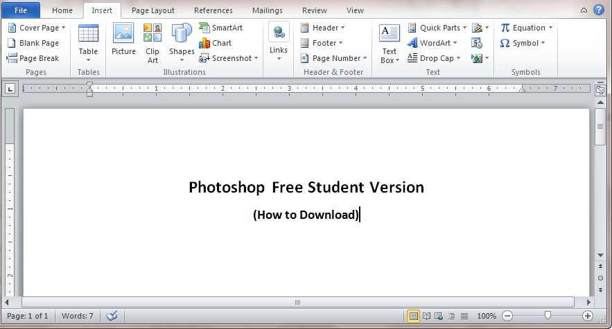 photoshop student free