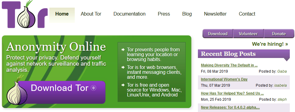 free proxy website - Tor